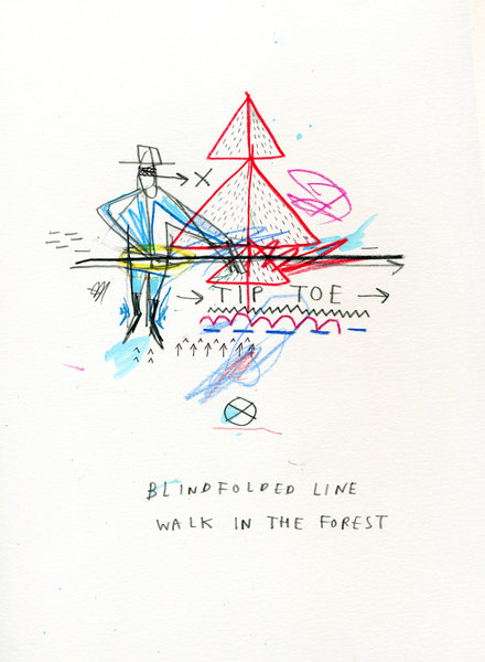 Beyond the Vanishing Point - Belghazi- the Drawing series - BLIND_LINE_WALK